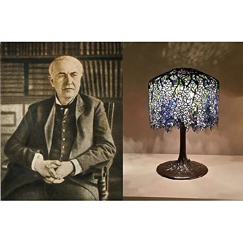 The History of Design in Table Lamps - 1. Thomas Edison to Art Nouve