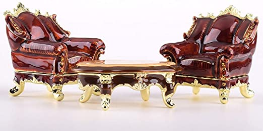 Amazon.com: Keren Kopal Chairs and Table Trinket Box Faberge Style .
