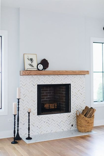 25 Tiled Fireplaces To Accent Your Living Room   Fireplace tile .
