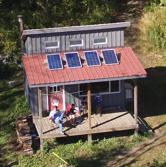 Our off-grid cabin in the hills of West Virginia. Try it out for a .