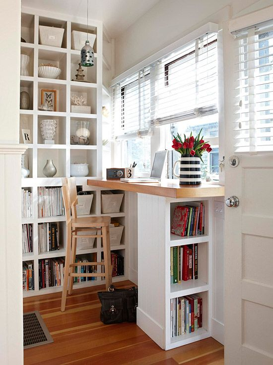 Small-Space Home Offices: Storage & Decor | Home office design .