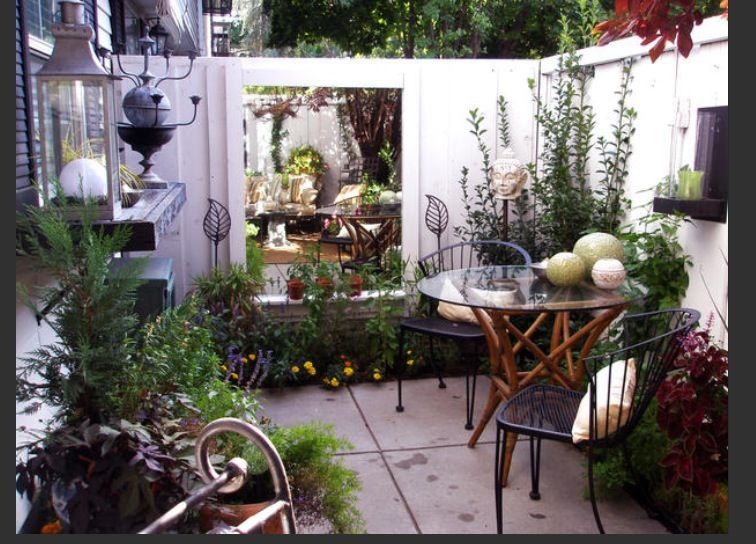 Small private patio... Great for townhouse or apt. | Small outdoor .