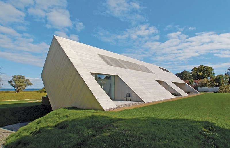 Modern House with Roof Like Collapsed Building – Villa Bie - The .