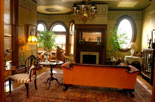 The formal parlor gives visitors a glimpse of how this 33-room .