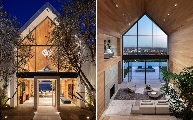The Triple Roof Peaks On This House Are A Striking Addition To .