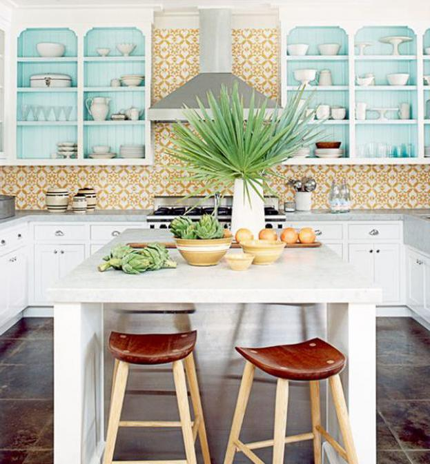 15 Fresh Natural Kitchen with Tropical Plan