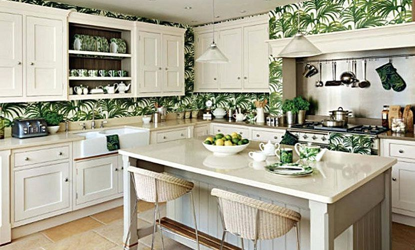 Tropical Kitchen Decorating Ideas with Fancy Kitchen Cabinet .