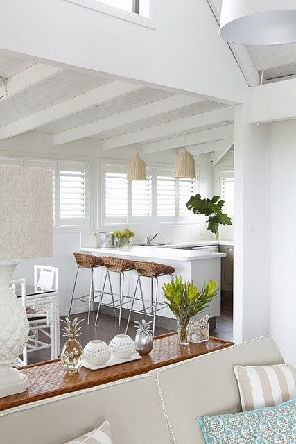 tropical white kitchen - mybungalow.org | Cottage style interiors .