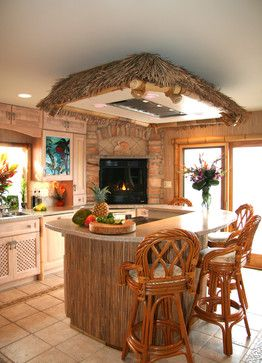 Tropical Small Kitchen Design Ideas, Pictures, Remodel and Decor .