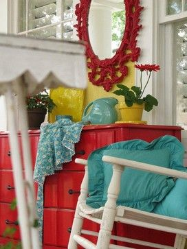 teal and red | Decor, Home decor, Cottage dec