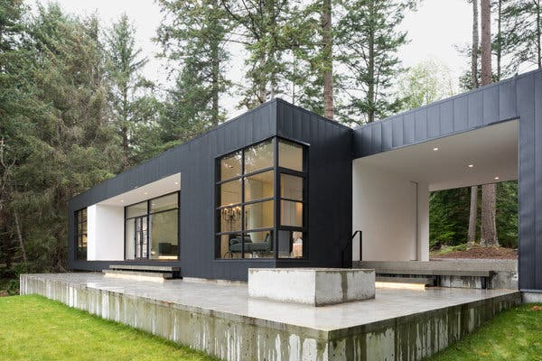 A Vacation Home as Minimal as a Gallery - The New York Tim