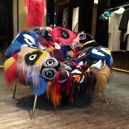 The Armchair Of Thousand Eyes by Campana Brothers for Fendi • Luxury