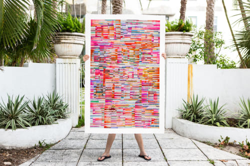 Bold and bright painting by Johanna Boccardo seen at Private .