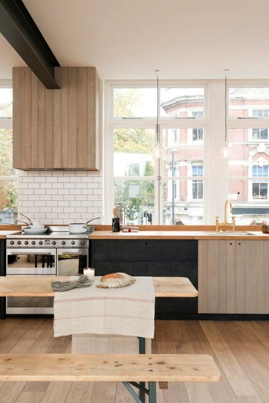 Urban Rustic Kitchen Design With Industrial Touches And Contrasts .
