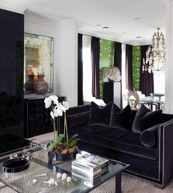 love everything about this room in 2020 | Velvet couch living room .