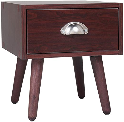 Amazon.com: JAXPETY Small Vintage Accent Wood Nightstands, Bed .