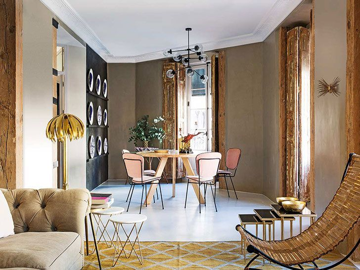 Modern apartment with vintage accents in Madrid 〛 ◾ Фото ◾Идеи .