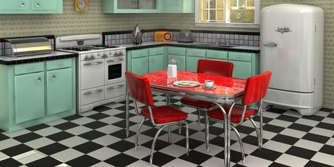 25 Cool Retro Kitchens - How to Decorate a Kitchen in Throwback Sty