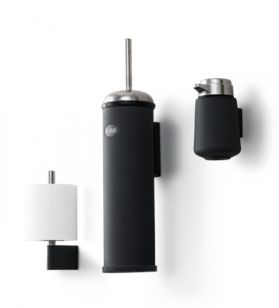 Wall Mounted Stainless Steel and Rubber Bathroom Accessories .