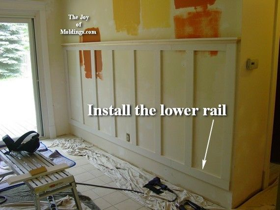 Pin by Kim Connors Donchez on Bless Our Home | Diy wainscoting .