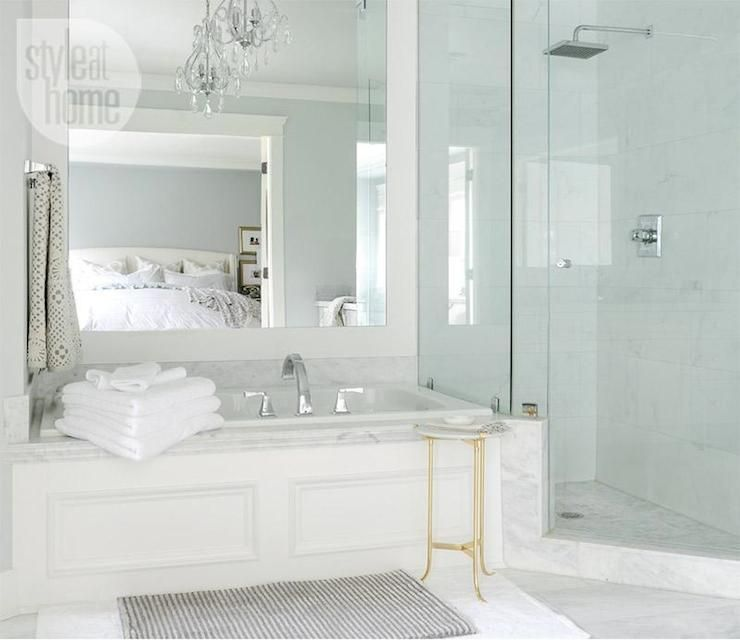 Bathtub Wainscoting - Transitional - bathroom - Style at Home .