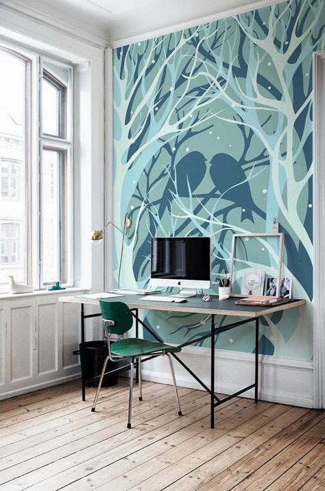 60 Awesome Wall Murals Ideas For Various Spaces   Tree wall murals .