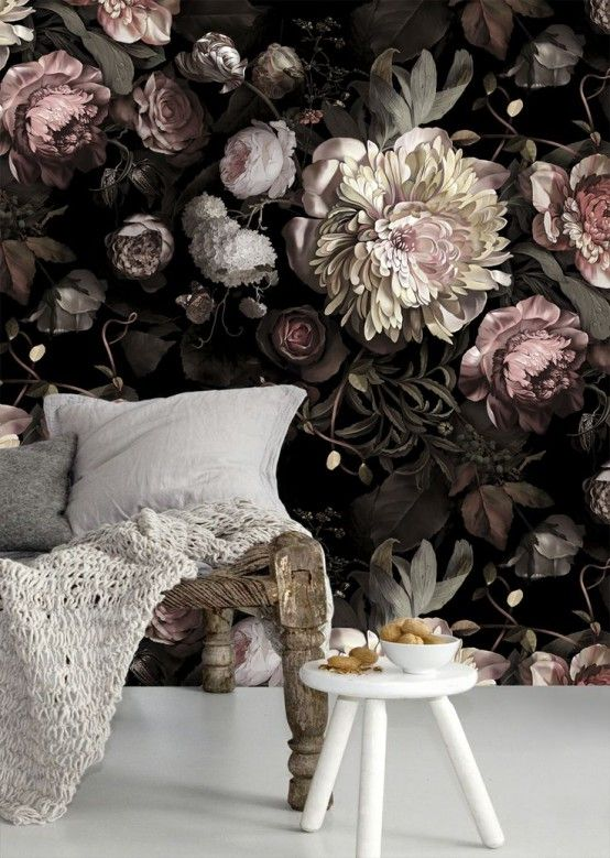 60 Awesome Wall Murals Ideas For Various Spaces   Bloem behang .