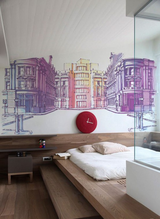 60 Awesome Wall Murals Ideas For Various Spaces - DigsDi