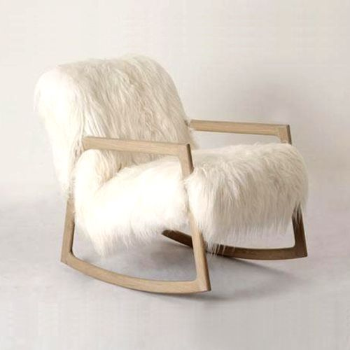 40 Adorable Warm Fur Furniture Pieces For Fall And Winter   White .