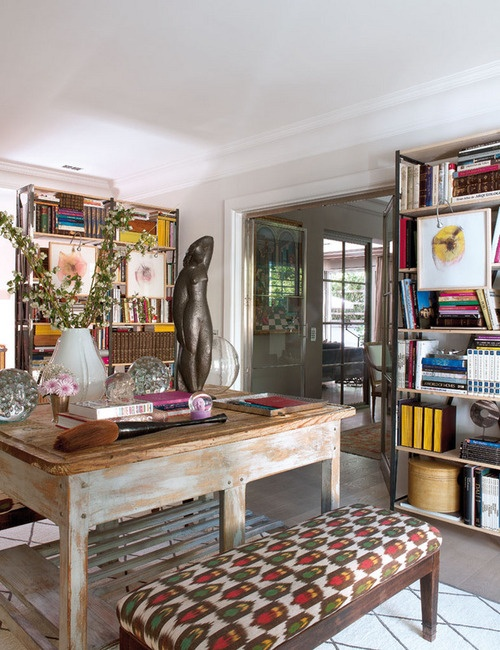 40 Floppy But Refined Boho Chic Home Office Designs - DigsDi
