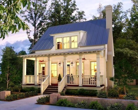 Cute cottage-style home! #cottages #homeexteriors homechanneltv .