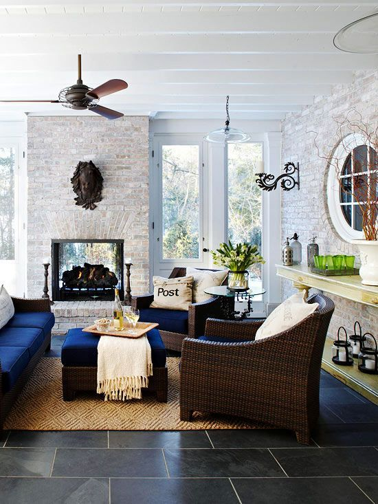 Wicker Furniture In The Interiors Cool Ideas   Indoor porch, Home .