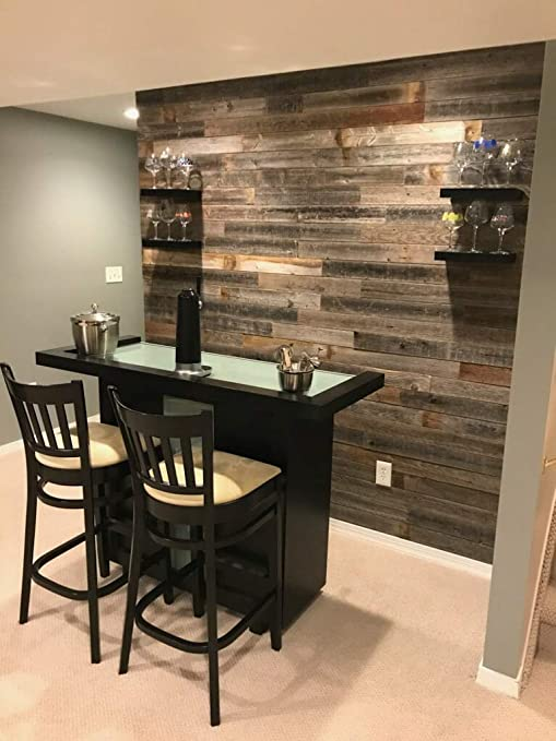 Amazon.com: Reclaimed barn Wood Wall Paneling, Planks for Accent .