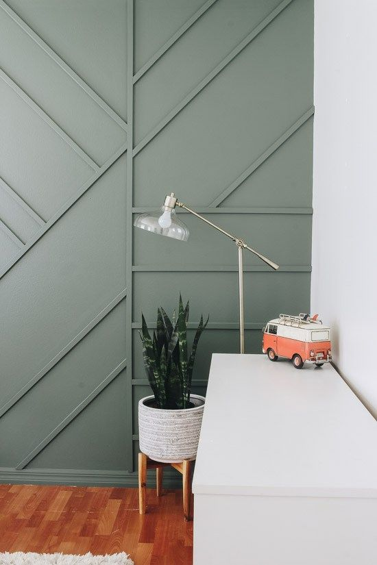 Creating a Modern Wood Accent Wall - Within the Grove | Accent .