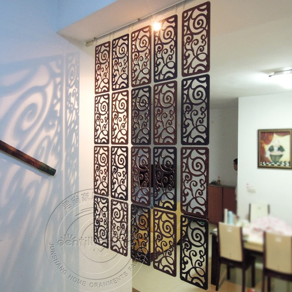 39*19CM Carved screen room Hanging screen Partition Wall Hanging .