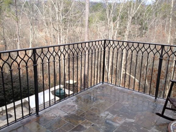 Porch Railing Ideas - Finding The Right Design   Wrought iron .