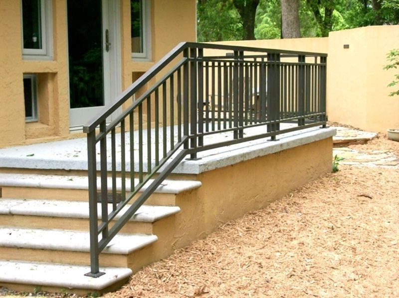 Craftsman Style Exterior Wrought Iron Railing   Outdoor stair .